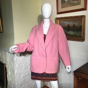 Vintage Canadian Sportswear 100% Wool Pink Blazer